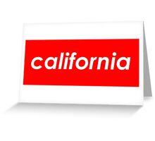 California - Red  Greeting Card