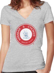 Armbar & Choker BJJ Women's Fitted V-Neck T-Shirt