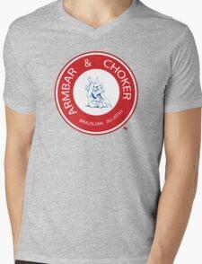 Armbar & Choker BJJ Mens V-Neck T-Shirt