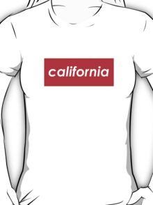 California - Red  T-Shirt