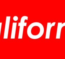 California - Red  Sticker