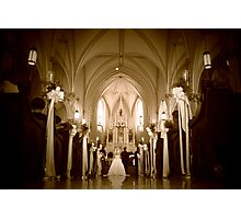Down the Aisle Photographic Print