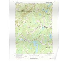 Maine USGS Historical Map Morrill 102772 1960 24000 Poster