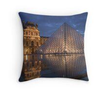 Pyramid at the Louvre museum, Paris  Throw Pillow