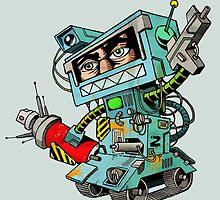 Human warrior robot by tuncdindas