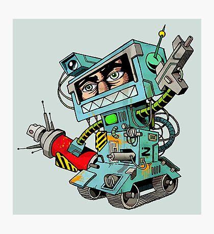 Human warrior robot Photographic Print