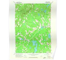 Maine USGS Historical Map Morrill 806940 1960 24000 Poster