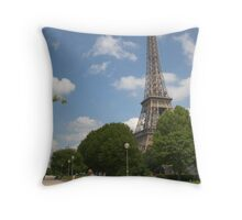 Quai Branly in front of the Eiffel Tower, Paris, France Throw Pillow
