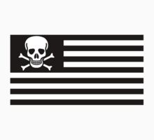 American Flag Pirate Flag by Jason Levin