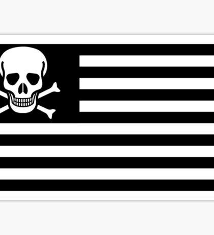 American Flag Pirate Flag Sticker
