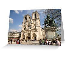 Notre Dame Cathedral, Paris Greeting Card