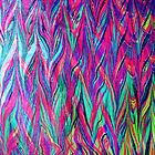 Marbled - Bright Chevrons  by Georgie Sharp