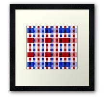 Red White Blue Blocks Framed Print