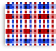 Red White Blue Blocks Canvas Print
