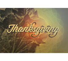 Thanksgiving Photographic Print
