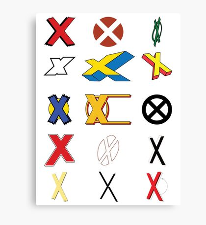 Mutant Alphabet Canvas Print