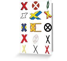 Mutant Alphabet Greeting Card
