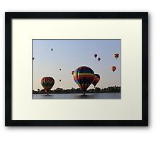 Balloon festival sunset in Colorado Springs Framed Print