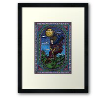 Heading Home from Witch School Framed Print