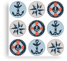 Nautical Adventures: Icons Canvas Print