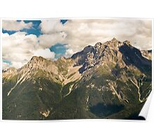 Mountains above Scuol Poster