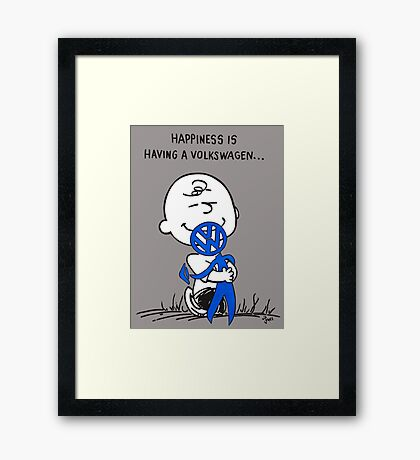 Happiness is ... Framed Print
