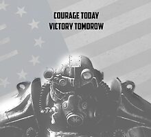 Courage Today Victory Tomorow by christronn