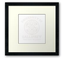 Womens Gallifrey University Framed Print