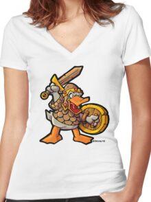 Ermahgerd! Derks! Women's Fitted V-Neck T-Shirt