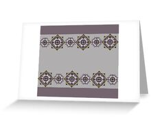 Lilac pattern with mandalas Greeting Card