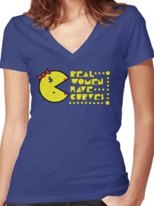 Pac Curves Women's Fitted V-Neck T-Shirt