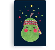 Hippie Pear Canvas Print