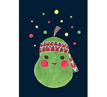 Hippie Pear Photographic Print