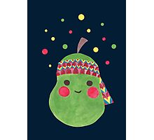 Hippie Pear Photographic Print