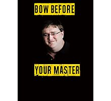 Bow before your master - Lord Gaben (Gabe Newell) Glorious PC Master Race Photographic Print
