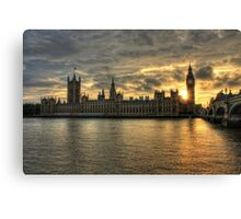 Sunset in London England Canvas Print