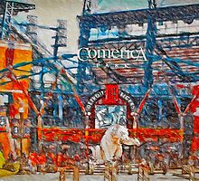 Sunny Day.  Comerica Park.  Perfect. by John Farr