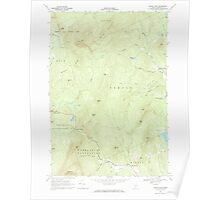 Maine USGS Historical Map Mount Blue 102775 1968 24000 Poster