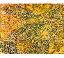 Leaves 11 Mixed Media - Ink on Monoprint Photographic Print