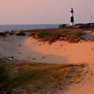 Big Sable Lighthouse at Sunset by Candace Byington