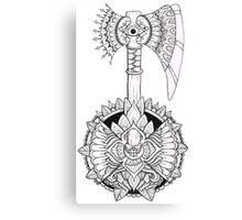 Axe Mandala Canvas Print