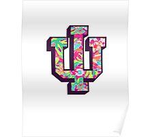 Indiana University Lilly Pulitzer Logo Poster