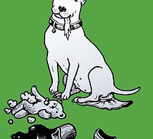 The Helpful Bull Terrier by threebrownhares