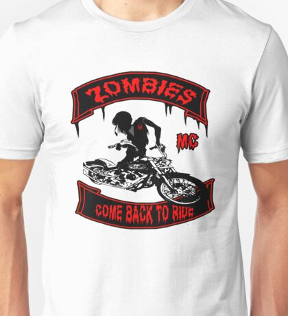 Zombies Bikers Unisex T-Shirt