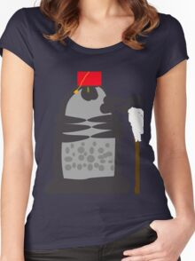 dalek fez and mop Women's Fitted Scoop T-Shirt