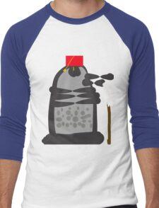 dalek fez and mop Men's Baseball ¾ T-Shirt