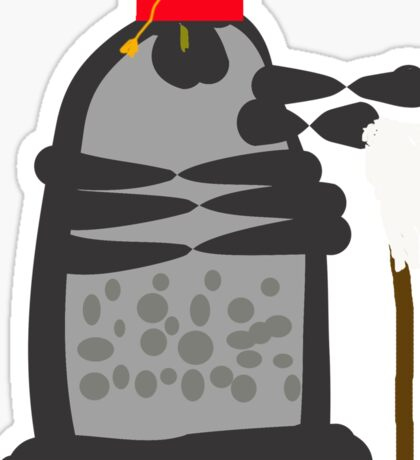 dalek fez and mop Sticker