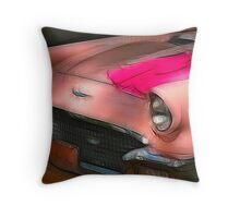 Pink T-Bird Throw Pillow