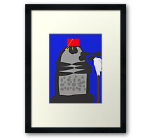 dalek fez and mop Framed Print