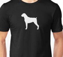 Boxer Dog Silhouette(s) Floppy Ears Unisex T-Shirt